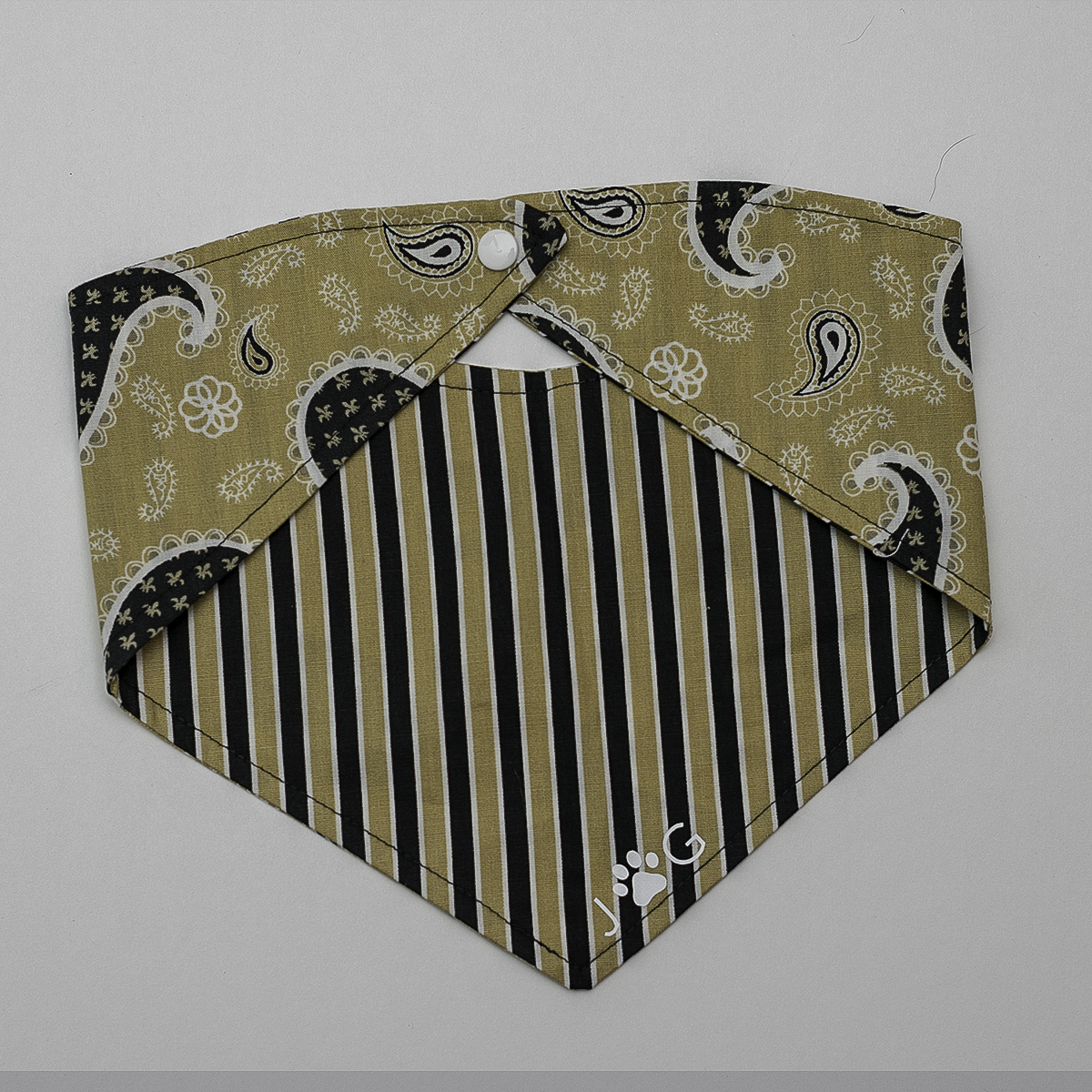 Josephine Grace Puppy Couture Deuce Bandana Front and Back