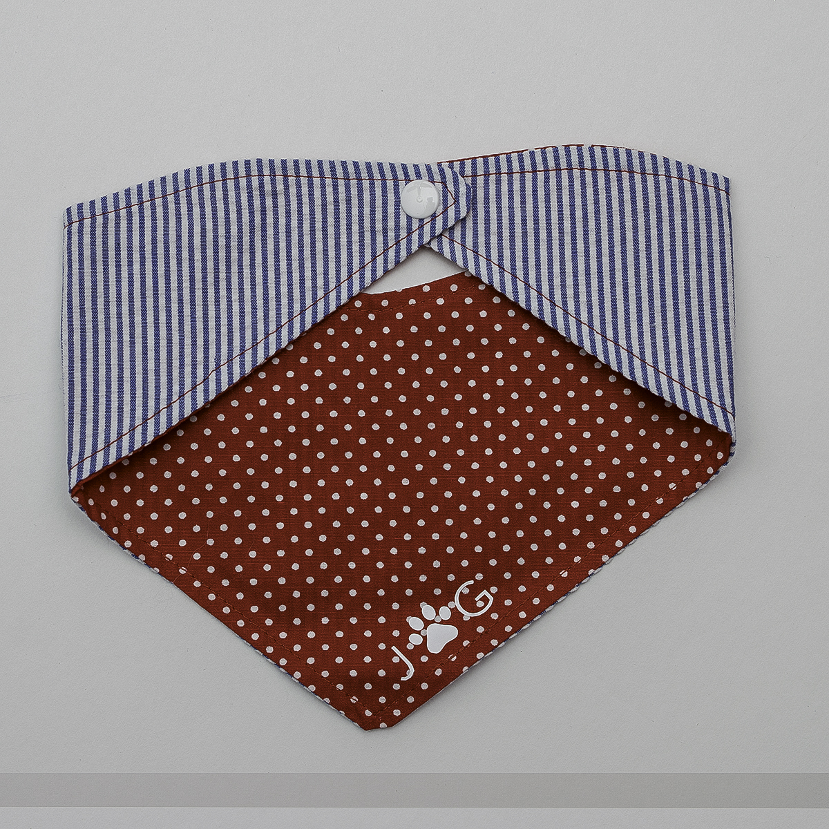 Josephine Grace Puppy Couture Maisy Bandana Front and Back